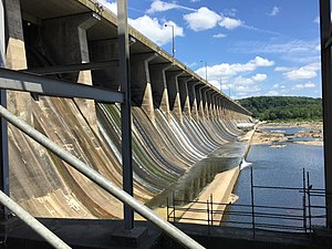Conowingo Dam - Spillway on east side of the dam