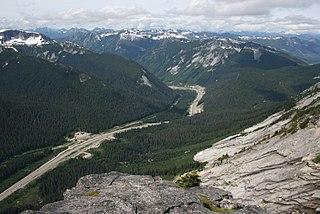 Coquihalla Summit Mountain pass in British Columbia, Canada