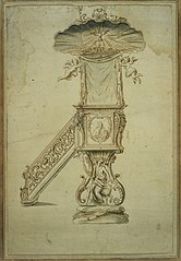 Design for a pulpit in Rococo style