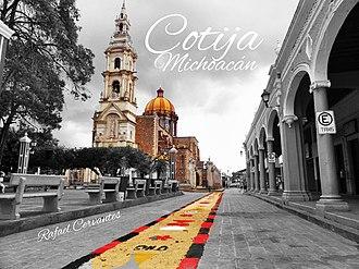 Cotija de la Paz - Image: Cotija De La Paz Michoacán y su linda iglesia