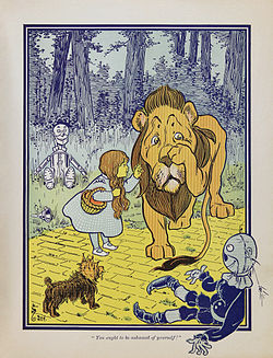 The Cowardly Lion, illustrated in the first edition of The Wonderful Wizard of Oz