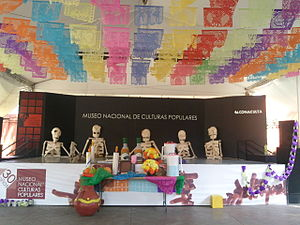 Museo Nacional de Culturas Populares - Museum decorated for Day of the Dead.