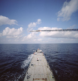 Orbital Sciences Corporation - The GQM-163A Coyote flies over the bow of the U.S. Navy observation ship during a routine test