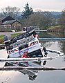 Crane in the canal at Apperley Bridge (Taken by Flickr user 9th February 2013).jpg