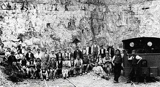 Crich - Quarrying in the early 1900s