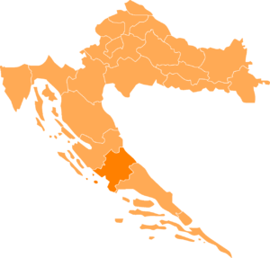 Collocatio regionis in Croatia