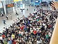 Crowd gathered central Seoul railway station to make a reservation for Chuseok 1.jpg