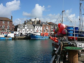 Weymouth Harbour, Dorset - View of the Custom House Quay at Weymouth Harbour.