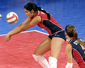 Spandex - American volleyball player Cynthia Barboza wearing spandex shorts