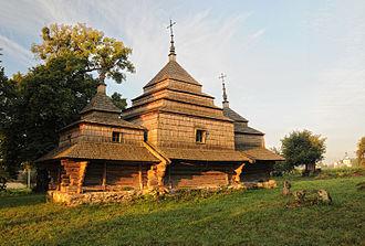Cherche - Wooden church of Saint Basil, built in 1733
