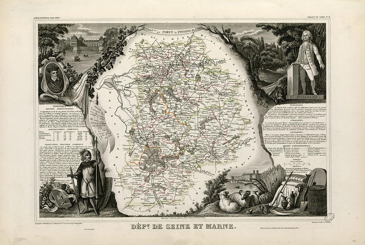 Histoire de seine et marne wikip dia for Histoire des jardins wikipedia