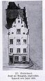 Düsseldorf Renaissancehaus mit geschweiftem Fialengiebel am Burgplatz, abgebrochen 1858.jpg