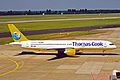 D-ABNL 2 B757-230 Thos Cook Germany-Condor DUS 03AUG03 (8657652718).jpg