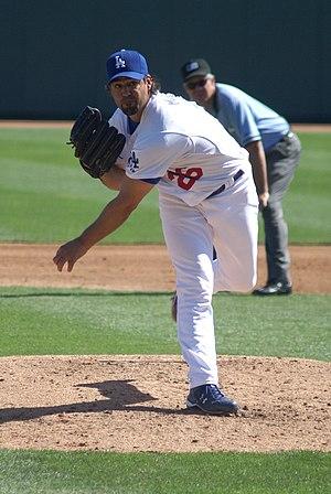 Eric Milton - Milton with the Los Angeles Dodgers