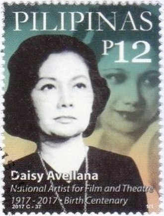 Daisy Avellana - Avellana on a 2017 stamp of the Philippines