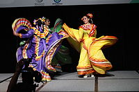 Dancing at the Wikimania 2015 Opening Ceremony IMG 7612.JPG