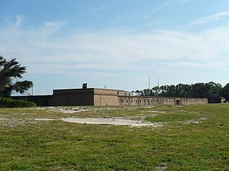 Fort Gaines (Alabama) - Northern (entrance) facade of Fort Gaines in 2008