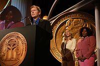 David E. Kelley, Jeri Ryan and Loretta Devine, May 2003 (3).jpg