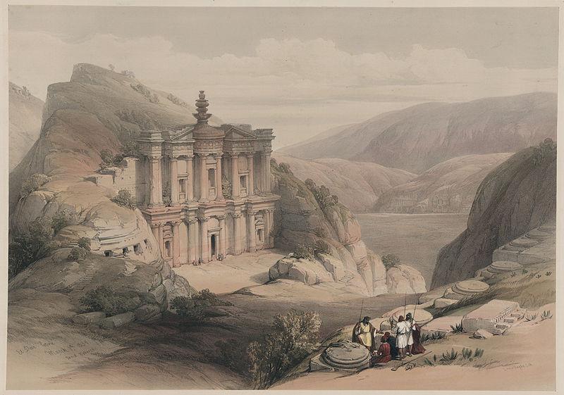 Файл: David Roberts-эль-Дейр, Petra (8 марта 1839) JPG.