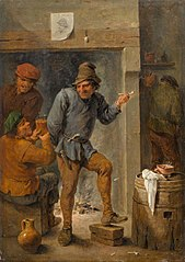 Men Smoking and Drinking in a Tavern