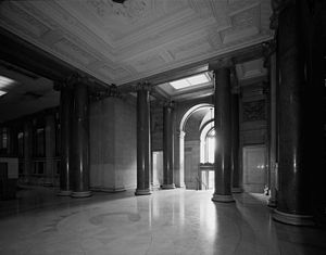 Postal Square Building - Image: Dc city post office foyer habs 1989 sw entrance lobby