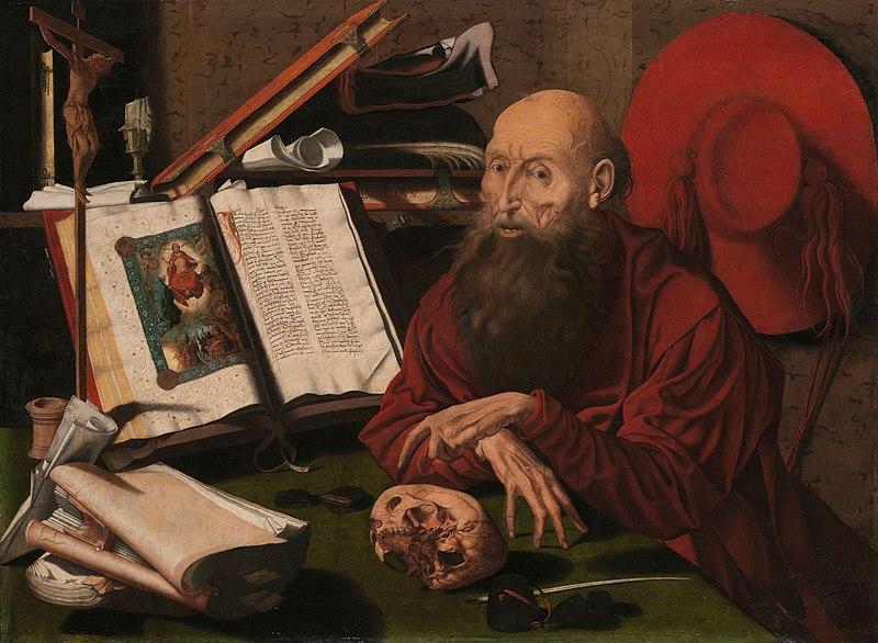 File:De heilige Hieronymus in zijn studeervertrek Rijksmuseum SK-A-3123.jpeg