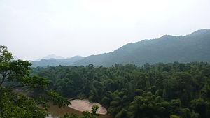 Tenasserim Hills - View from the Burma Railway over the Kwai River, Kanchanaburi Province