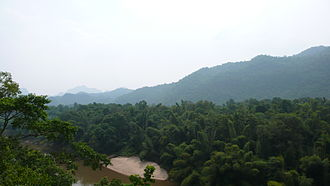 Tenasserim Hills - View from the Burma Railway over the Kwai River, Kanchanaburi Province