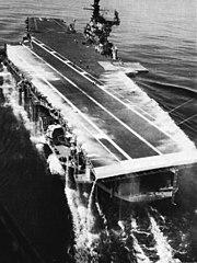 Deck edge water system aboard USS Franklin D. Roosevelt (CVA-42), in 1969