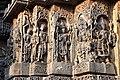 Decorated outer walls Hoysaleswara Temple Halebid (8).jpg