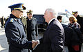 Defense.gov News Photo 110112-F-6655M-012 - Secretary of Defense Robert M. Gates and wife Becky are bid farewell by Deputy Chief of Staff for the People s Liberation Army Gen. Ma and wife in.jpg