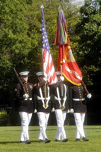 Marines - A ceremonial color guard of the United States Marine Corps.