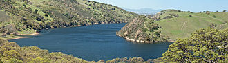 California State Water Project - Lake Del Valle stores SWP water diverted through the South Bay Aqueduct for use in the San Francisco Bay Area.
