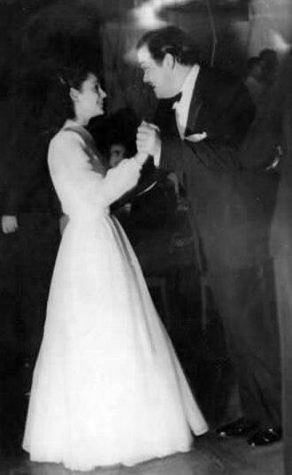 Delia Garcés - Delia Garcés and Orson Welles at an Argentine Film Critics Association awards reception for Citizen Kane (April 1942)
