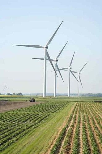 North Frisia - A wind farm in the Desmerciereskoog polder