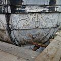 Detail van een schildering op de met lood beklede torenspits, tijdens de restauratie - Edam - 20379424 - RCE.jpg