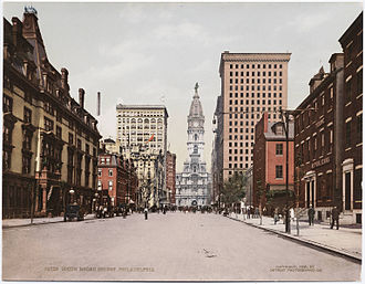 Broad Street Historic District (Philadelphia) - Broad Street, ca.1900