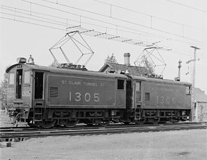 St. Clair Tunnel - Electric-powered St. Clair locomotive, at Port Huron.