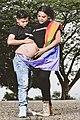 Diane Rodríguez activista LGBT - Trans en Ecuador junto a su novio Zack Elías en estado de gestación - alta resolución.jpg