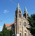 """Die katholische Stadtpfarrkirche St. Maria, die mächtigste Kirche der Südpfalz, wird wegen ihrer Größe auch der """"Dom zu Landau"""" genannt. - panoramio.jpg"""