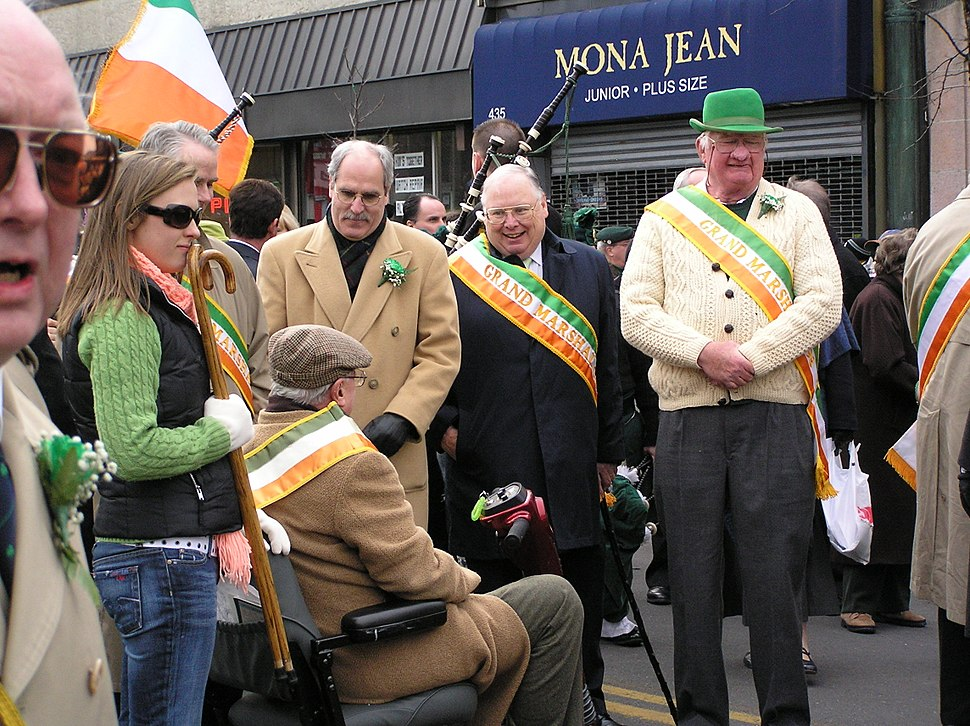 Dignitaries at the Yonkers Saint Patrick's Parade