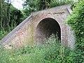 Disused railway bridge over footpath - geograph.org.uk - 498830.jpg