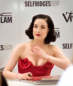 Dita Von Teese at Selfridges, London