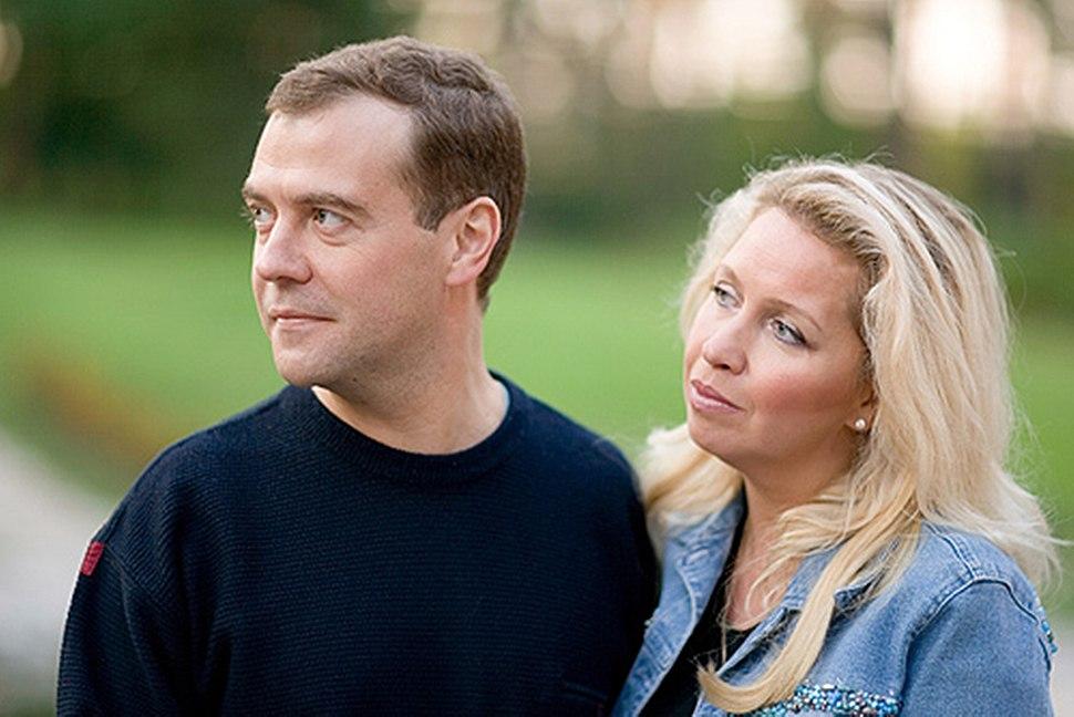 Dmitry Medvedev and his wife Svetlana Medvedeva