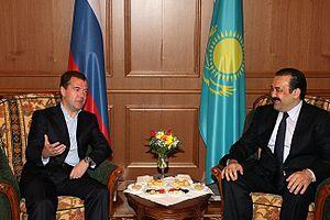 Karim Massimov - Massimov with President of Russia Dmitry Medvedev on 5 July 2010