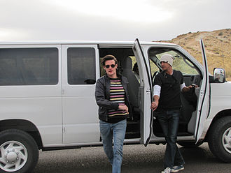 The Impossible Astronaut - Matt Smith at filming in Utah.