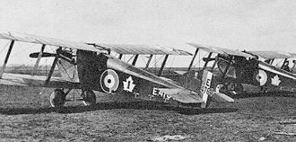 History of the Royal Canadian Air Force - Sopwith Dolphins of No.1 (Fighter) Squadron, Canadian Air Force.