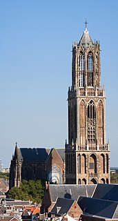 Dom Tower of Utrecht church tower in the city of Utrecht, Netherlands