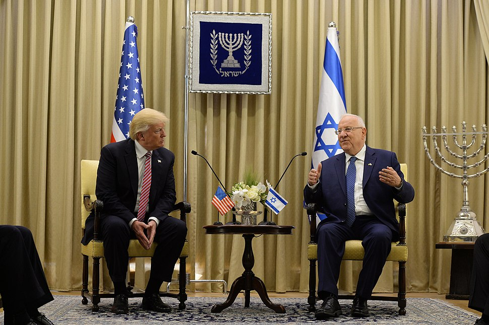 Donald Trump with Reuven Rivlin in Israel 2017 (1)
