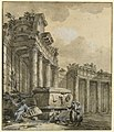 Drawing, Figures near a Ruined Colonnade, 1761 (CH 18496685).jpg